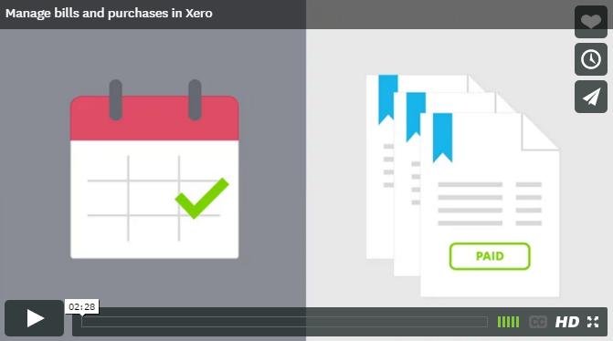 how to create a bill in xero