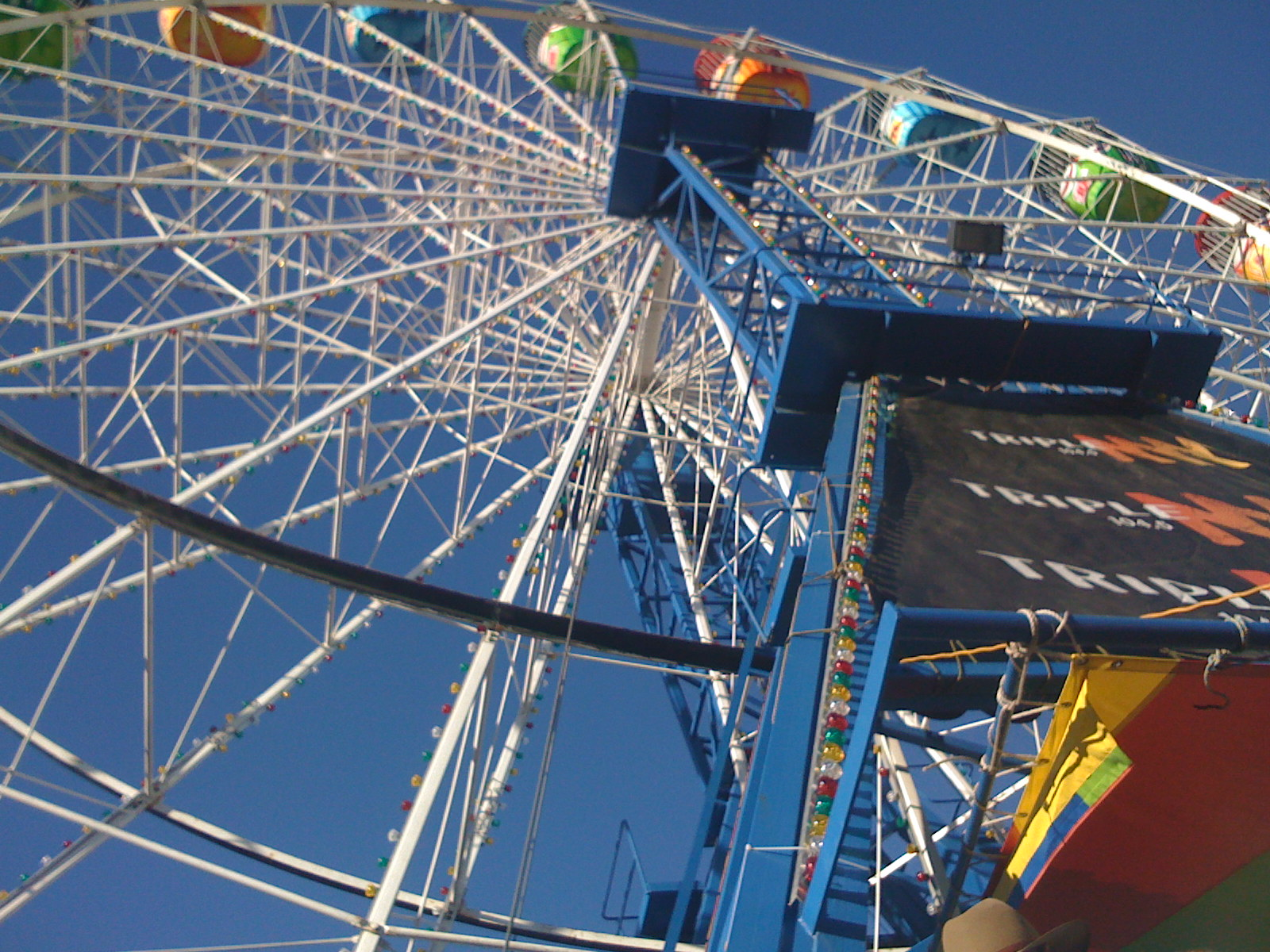 wheel ride looking up