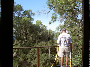tradie working on a deck